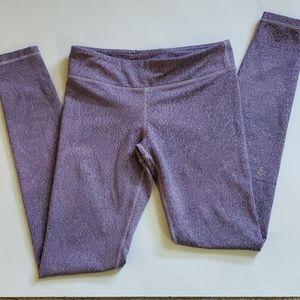 Ivivva speckled purple full length leggings sz 12